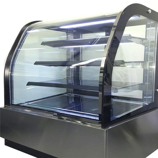 Curved-glass-freezer