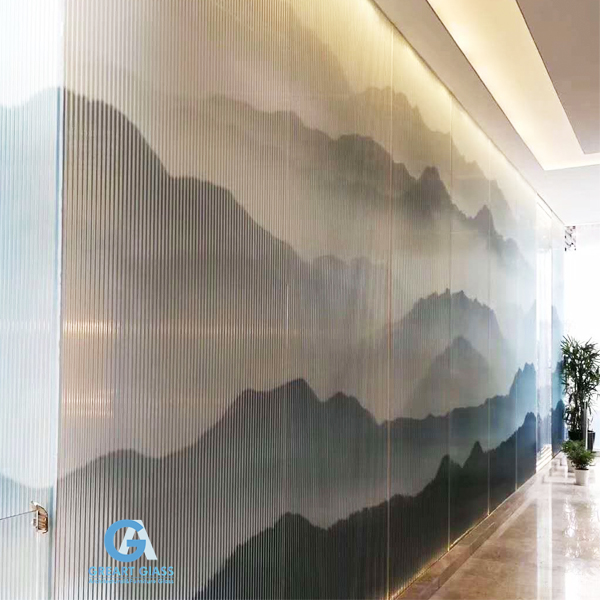 fluted glass wall cladding