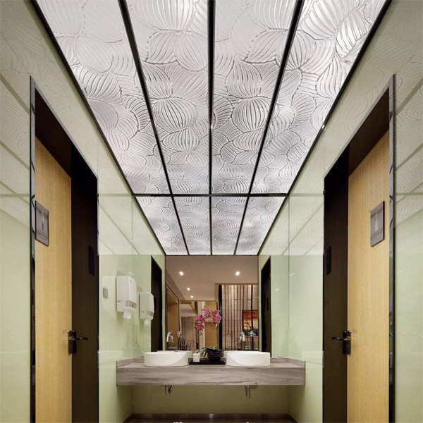textured-glass-ceiling