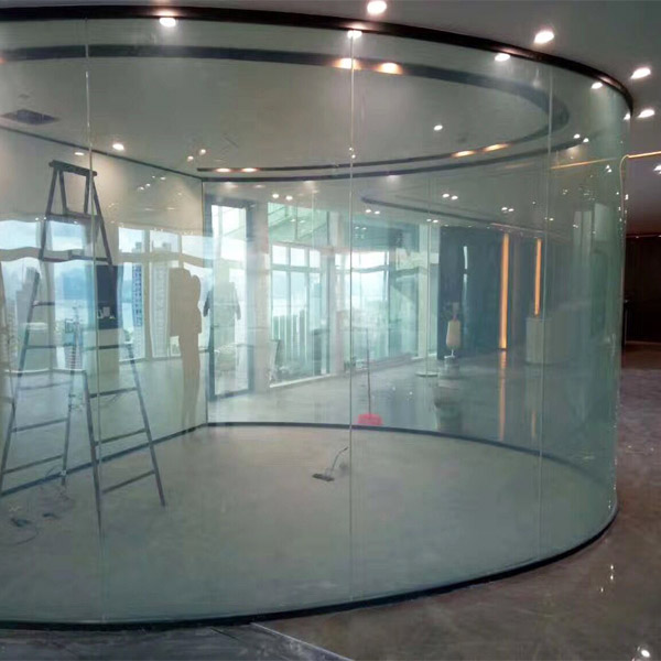 Magic glass partition